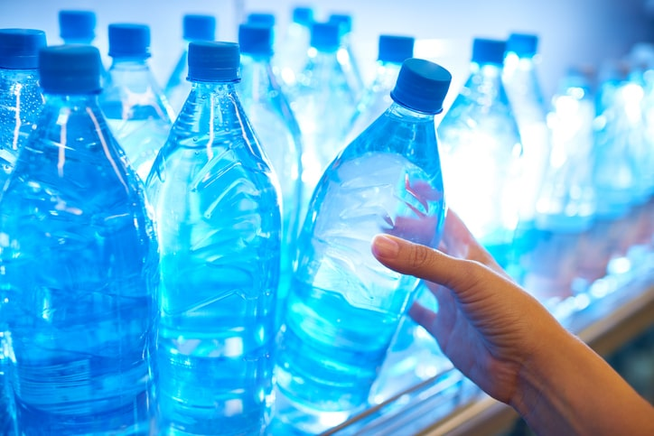 What contaminants are in bottled water
