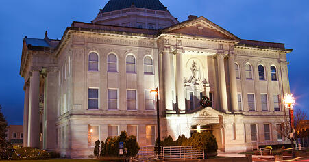 Historic Courthouse in Lebanon, Indiana