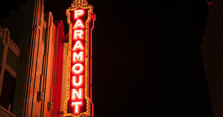 Paramount Theater sign, Anderson, Indiana